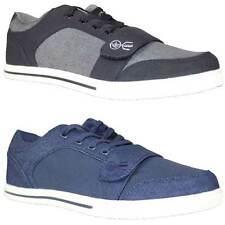 New Mens Crosshatch Denim Quilted Trainers Sneakers Sports Casual Shoes