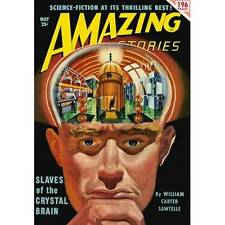 NEW! Amazing Slaves of Crystal Brain Sci Fi Magazine Cover Poster Home Wall Art