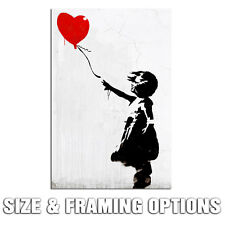 BANKSY BALLOON GIRL WHITE HIGH QUALITY GRAFFITI STREET ART CANVAS GICLEE PRINT