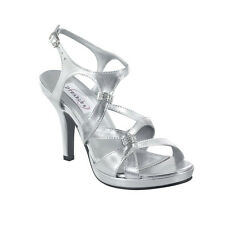 Silver Metallic Formal Prom Bridal Bridesmaid Platform Sandal Women's Shoe