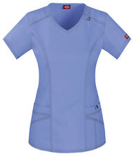 Dickies Scrubs Short Sleeve Top 85812 CBLZ Ceil Blue Free Shipping