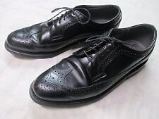Dexter USA Leather Sole Black Oxford Wingtip Dress Shoes Men's Size 9-1/2""