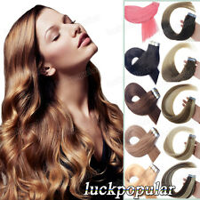 """Remy Human Hair Extensions Seamless Tape in Skin Weft Hair 16""""- 24"""" Ombre Hair"""