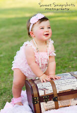 Baby Girl Headband & Sandals Set Photography Prop Shabby Toe Flowers Shower Gift