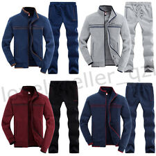 Newest Men Spring Activewear Sport Full Tracksuit Zip Jacket+Pants Jogging Suits