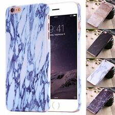For Apple iPhone 6&6s/Plus 5s SE Glossy Thin Printed Marble Hard Case Cover Skin