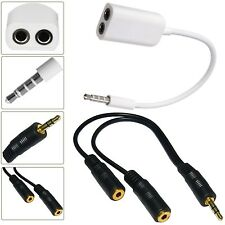 3.5MM HEADPHONE ADAPTER JACK TO JACK AUX SPLITTER PLUG FOR SAMSUNG GALAXY S3
