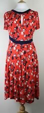ex French Connection FCUK Ladies Semi  Jersey Print Dress Short Sleeve Red