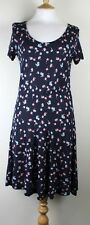 ex French Connection FCUK Ladies Semi  Jersey Print Dress Short Sleeve Navy