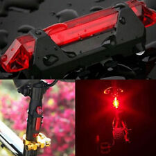 5 LED USB Rechargeable Bicycle Cycling Tail Rear Safety Warning Light Lamp New