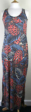 ex French Connection FCUK Ladies Jersey Maxi Dress Burn Out Print