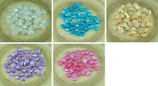 50pcs Rose Pastel Pearl Czech Glass PRECIOSA Rose Petal Pressed Flower Flat Bead