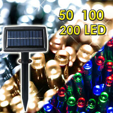 New 50 100 200 400 LED Solar Powered Fairy String Light Garden Party Decor XMAS