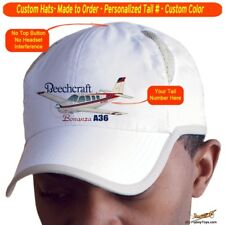 Beechcraft Bonanza A36 Custom Airplane Pilot Hat - Personalized with Your N#