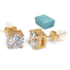 Surgical Stainless Steel Additional Push Back Round Studded Earrings In Gift Box