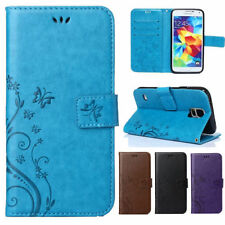 Flower Pattern Magnet Flip PU leather wallet Case Card Stand For iPhone/HTC/LG