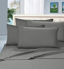1000TC 100% EGYPTIAN COTTON ELEPHANT GREY SOLID USA BEDDING SHEETS COLLECTION