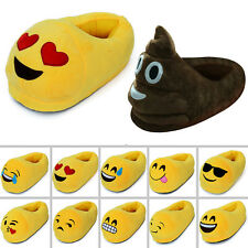 Emoji Faces Plush Stuffed Unisex Slippers Cartoon Winter Pajamas Home Kids Shoes
