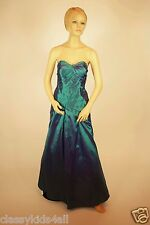 Lady Taffeta Beaded Strapless Prom Formal Debut Evening Party Hunter Green Dress
