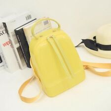 Women's New style Candy color Pure color jelly PVC Girls backpack student bag