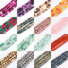 4/6/8/10/12mm 1Bunch Lots Natural Gemstone Spacer Bead Necklace Jewelry Findings