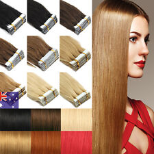 Seamless Pu Tape in Skin Weft Remy Human Hair Extensions 16''18''20Pcs 40Pcs AU
