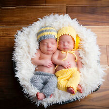 Cute Baby Toddler Crochet Knitting Handmade Hat Cap Pants Set Photography Props