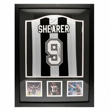 Newcastle United FC Shearer Signed Shirt Framed Football Soccer Memorabilia
