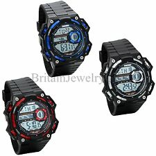 Mens Sprots Watch Large Oversize Dial Multifunction Electronic Boys Wrist Watch