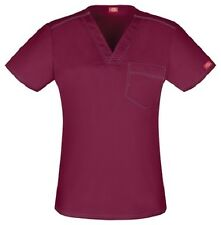 Dickies Scrub Short Sleeve Top DK801 WINZ Wine Free Shipping