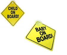 Baby - Child On Board Sign with Suction Cup Vehicle Safety Car Sign