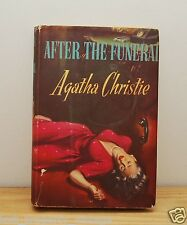 Agatha Christie After the Funeral vintage hardback book Poirot Club dust jacket