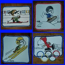 Snoopy Olympic Patches - Skiing, Snow Boarding, Ski Jumping or Speed Skating