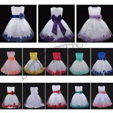 Baby Flower Girl Princess Dress Wedding Bridesmaid Pageant Recital Graduation
