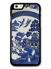 Blue Porcelain Style Hand Painted Asian Inspired Doves case for iPhone & Samsung