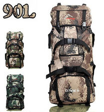 Large Hiking Mountaineering Camping Hunting Backpack Tactical Outdoor Bag 90L