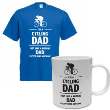 CYCLING DAD - Cycle /Father's Day Gift / Funny Gift Idea Men's T-Shirt & Mug Set