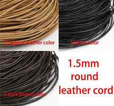100m 328 Feet 1.5mm round real leather cord genuine leather string cord