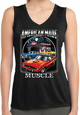Plymouth BarricudLadies American Made Muscle Sleeveless Moisture Wicking T-Shirt