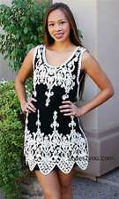 NWT Pretty Angel Clothing Mariah Shirt Dress In Black & White S M L XL 62591
