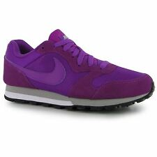 Nike MD Runner 2 Running Shoes Womens Purple/Silver Trainers Sneakers Fitness