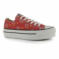 Converse All Star Andy Warhol Soup Platform Trainers Womens Pink/White Sneakers