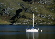 Art print POSTER / Canvas Yacht Moored on Loch Ailort