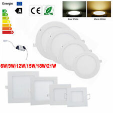 Bright CREE LED Recessed Ceiling Panel Down Light Bulb Lamp Square Round CE/RoHS