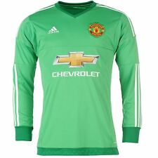 Adidas Manchester United Goalkeeper Home Jersey 2015 2016 Mens Lime Football