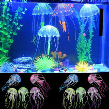 Artificial Glowing Effect Fish Tank Ornament Decor Jellyfish Aquarium Decoration