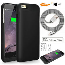 [MFi Pack] for iPhone 6s Plus - 3200mAh Battery Case Lightning Cable Glass Films