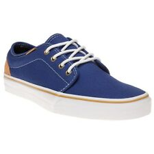 New Mens Vans Blue 106 Vulcanized Canvas Trainers Lace Up
