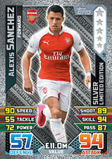 Match Attax Extra 2016 Trading Card. Limited Edition LE1 Silver 'Alexis Sanchez'