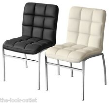 COCO DINING CHAIRS IN BLACK OR CREAM